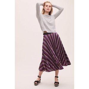 Beatrice B Skirts - NWOT Beatrice B Metallic-Pleated Maxi Skirt